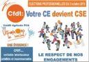 CFDT Crédit Agricole PCA – Élections du 3 au 10 octobre 2019, votre CE devient CSE